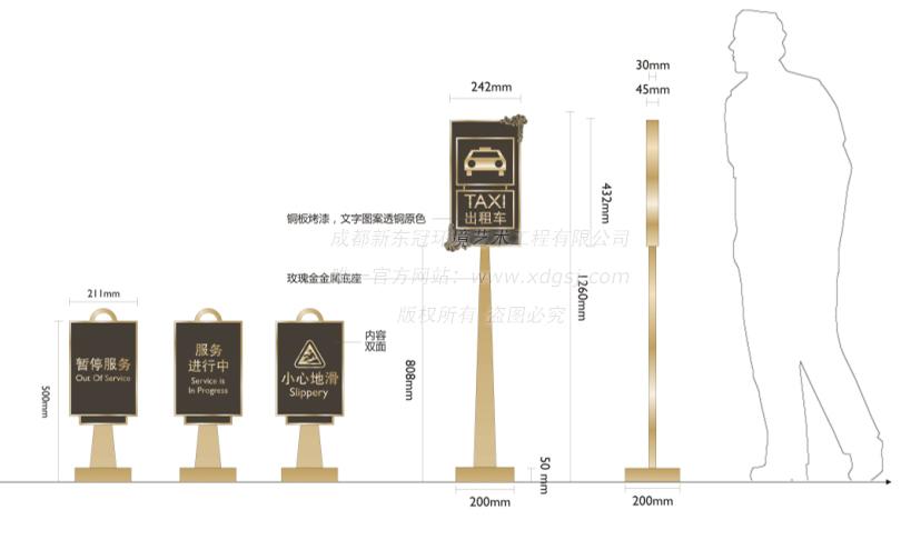 成都环球中心天堂洲际大饭店标识系统_酒店导视工程